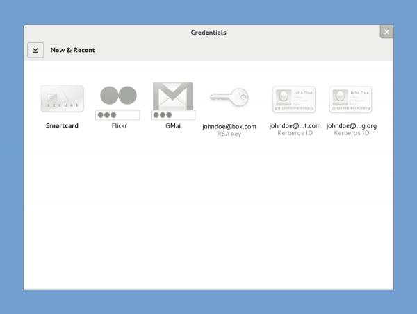 GNOME 3 Credenciales