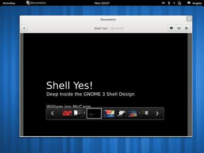 GNOME 3 previsualización de documentos